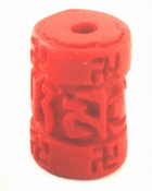 4 Fire Engine-Red Imperial Piller Beads